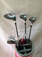 Wholesale 12pcs Full set R15 driver R15 fairway woods Rsi golf irons PAS golf clubs Rsi1 come headcover