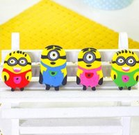 Wholesale 100pcs Cartoon Minions Figures Erasers Lovely Despicable Me Minions Rubber Cartoon Pencil Rubber Eraser Best Gift For Children