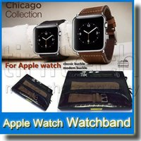 Wholesale Apple Watch Bracelet Watchband Strap Leather Classic Buckle mm mm Watch Band Strap for Apple Watch in Retail Package New