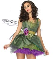Chiffon animation images - Bridesmaid Dresses halloween costume Animation forest green Elf cosplay
