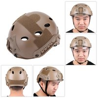 Wholesale Military Tactical Helmet with Protective Goggles for Airsoft Paintball Base Jump Helmet Outdoor Climbing Riding with Chin Strap Y0305