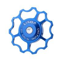 Wholesale LIXADA Jockey Wheel MTB Mountain Bike Road Bicycle Rear Derailleur Aluminum Alloy T Guide Roller Idler Pulley Bike Accessory