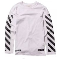 Wholesale White T Shirt Brand Short Sleeve Off White Virgil Abloh Hip Hop Mens Off White Virgil Abloh Solid Casual Clothing