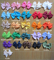 baby headbands with hair attached - Set of pieces inch baby hair bows colors to choose you pick colors hair bows attached with mm lined alligator clip