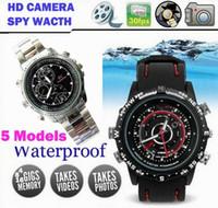 Wholesale Spy Watch Camera Recorder Waterproof MINI DV DVR Pinhole Hidden Mini Camera GB Black
