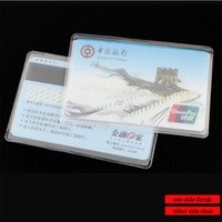Wholesale 80pcs WHB x6cm mic or mil PVC credit id bank card clear bags unsealed packing card bags