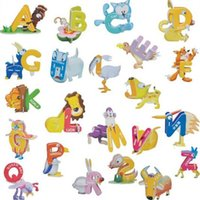 abc jigsaw puzzles - ABC Animal D Alphabet Puzzles Paper Jigsaw Puzzle Kids Baby Learning Study Cards Toys Set