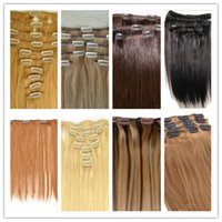 Wholesale g Set clip in hair Beauty Brazilian Remy Hair Virgin Straight Hair Clip In hair Human Hair Extensions