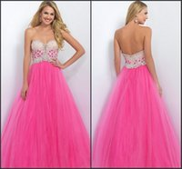 azalea pink - 2016 Azalea Sparkle Prom Dresses Sweetheart with Beads A Line Tiers Tulle Floor Length Formal Evening Gowns