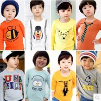 Wholesale New Arrival Children T Shirts Long Sleeve Boys Girls T Shirts Spring Autumn Kids Girls Children T Shirts Kids Tops Tees