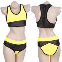 Cheap 2015 Women's Sexy Mesh fabric Bikini set Steel bracket Swimsuit high waist bikini Swimwear Beachwear Bathing Suit 35