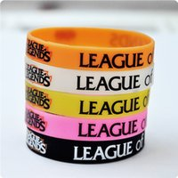 Wholesale cartoon toys ring boy girl Jelly Glow LOL GAMES Souvenirs Silicone Wristband LEAGUE of LEGENDS Bracelets with ADC JUNGLE MID SUPPORT TOP