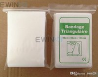 Wholesale New and High Quality Survival Outdoor Emergency Medical Triangular Bandage Triangulaire Non woven Bandage hot selling