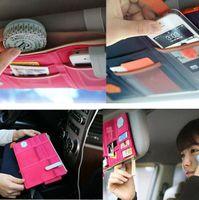Wholesale Sun Visor Point Pocket Organizer Pouch Bag Pocket Card Storage Holder In Car