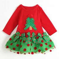 Cheap 2015 New Baby Girl Dress Christmas Sleeve Polka Dot One-piece Coat Shirt Dress Clothes