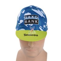 bank headband - Tinkoff saxo bank Cycling cap Bicycle bike cycling hat sports headband cycling caps headwear Convenient and practical bicycle hood