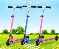 Wholesale 3 colors wheels Foldable Safety Adjustable Height T Handle Bar Kick Balance Braking Scooter for Years Old Kids