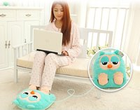 Wholesale Multi purpose electric heating pad plush cartoon usb warm feet treasure charge electric foot warmer