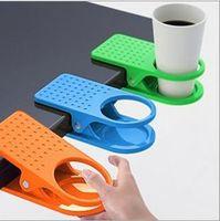 Wholesale Creative Space Saving Deskside Drinklip Office Table Desk Cup Holder Clip Promotional Gift Item