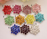 Garment Accessories embellishments - 50pcs Clear Crystal Rhinestone Acrylic Rhinestone Buttons for Embellishment Hair Garment Accessories DIY1101