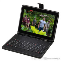 Wholesale 10 quot Inch Android Quad Core Tablet PC Actions A9 GB Dual Camera Cheap Tablet Tablets WIFI Bundle Keyboard Case