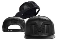 artificial box ball - all black Full leather TMT The Money Team Snapback caps different colors classic mens sports hats cap shipping in box Freeshipping TY