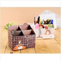 Precio de Organizadores de papel de escritorio-2014 Nueva Junta DIY Papel Caja de almacenamiento de escritorio Organizador cosmético del maquillaje de contenedores