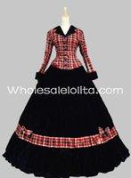 civil war clothing - Civil War Gown Period Dress Navy Blue Velvet Reenactment Theatre Clothing