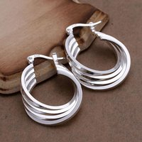 Wholesale 925 silver earrings fashion jewelry earrings beautiful earrings high quality Four Ring Earrings xv ey