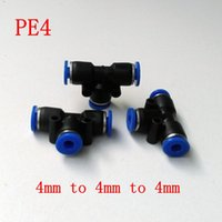 Wholesale 20pcs Pneumatic Air Fitting mm to mm to mm T Shape Quick Fitting Connector PE4
