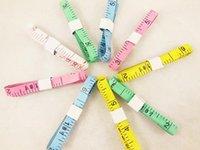 Wholesale 3000pcs DHL Body Tape Measure Length Cm Soft Ruler Sewing Tailor Measuring Ruler Tool Kids Cloth Ruler