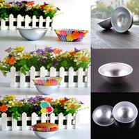 bath bombs - 2 Size Fashion D Aluminum Sphere Bath Bomb Cake Pan Tin Baking Pastry Ball Mold
