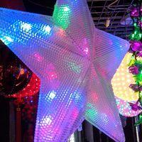 Wholesale US Stock V Big LED Pentagram Strings Christmas Fairy Lights Lighting t Lamp For Decoration Wedding Colorful RoHS Certificate