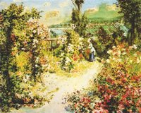 One Panel beautiful greenhouses - Beautiful Woman oil painting by Pierre Auguste Renoir The greenhouse hand painted High quality