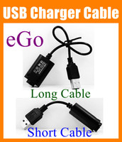 black battery charger cable - eGO USB Cable Charger Electronic Cigarette USB Charger for eGo eGo T EGO C EGO W e cig e cig E Cigarette ego thread battery FJ004