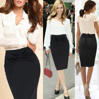 women business suits - New Arrival Womens Spring Business Suit Pencil Skirt Winter OL Skirts For Women Knee Length Skirts Step Black Mini Bodycon Skirt SV003881