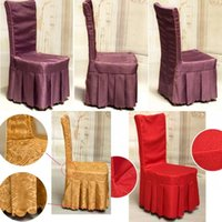 Wholesale Gold Chair Covers for Weddings Polyester Spandex Wedding Chair Covers Party Banquet Folding Hotel Decoration Accessories High Quality