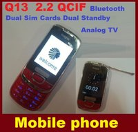 mobile phone tv mobile phone - CHeapest New Q13 Dual Sim Cards Dual Standby phones Analog TV candybar phone quad band inch Real MP3 MP4 mobile phone