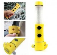 auto emergency hammer - 100 in150 LED Flashlight Torch Belt Cutter Safety Car Auto Emergency Escape Hammer by DHL