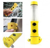 auto emergency flashlight - 4in150 LED Flashlight Torch Belt Cutter Safety Car Auto Emergency Escape Hammer by DHL