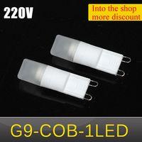 ac ceramic lights - 1pcs Newest MINI G9 W AC V V Ceramic LED Crystal lamp COB LEDs Chandeliers Corn Bulb Lantern lights