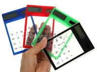 Wholesale New Fashion Mini Transparent Solar Powered Digits Credit Card Touch Screen Electronic Calculator