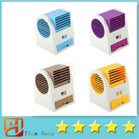 battery table fan - Mini USB Fan Electric Bladeless Air Conditioner Cooling Fan No Leaf Portable Table Refrigeration Fan
