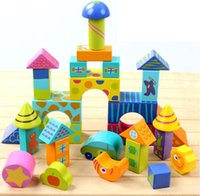 Wholesale Baby grain trade large blocks puzzle Children s year old wooden green toys marvel select colorful blocks for one set