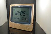 best digital compass - 2PCS quot LCD Digital muslim azan clock islamic prayer praying table clock with compass best ramadan gifts