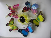 craft supplies - TOP Hot cm Colorful Artificial Butterflies Magnetic Craft Floral Supplies Wedding Festival