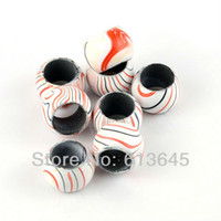 Wholesale 10PCS Top Popular Jewellery Scarf Findings Necklace Pendants Plastic Beads With Orange Streak AC0132D
