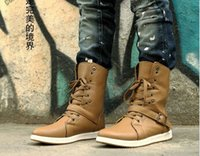 Cheap Fashion New Men's Winter High-top Army Combat Boots Lace Riveted Boots casual Shoes
