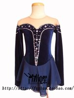 Cheap Custom Made fit Ice figure Skating Dresses skirt for Competition Girls in Winter Sports crystal Made in China ice butterfly