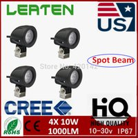 Cheap 4pcs 10W CREE LED SPOT Work Light Round 4x4 offroad SUV Truck Motor ATV Boat 12V For H1 Cars LED CAR LED 12V Running Lights W5W